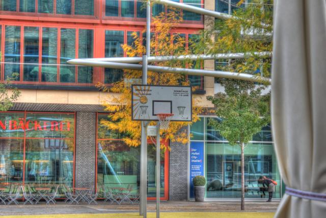 HDR, High Dynamic Range Image, Hamburg, Hafencity, Basketball