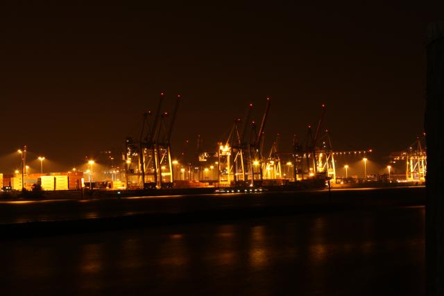 Hamburg, Harbour, Night